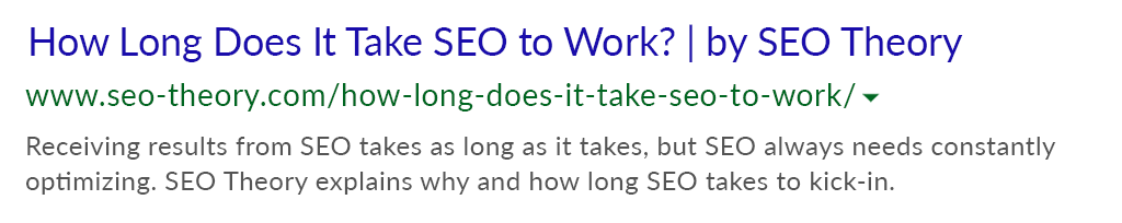 SEO Theory how long does seo take after predikkta