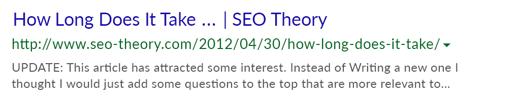 SEO Theory how long does seo take before predikkta